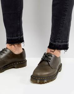 Кожаные ботинки с 3 парами люверсов Dr Martens 1461 - Коричневый