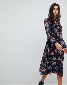 Платье миди в стиле 70-х Lily and Lionel - Мульти