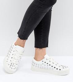 Кроссовки с отделкой заклепками Monki - Белый