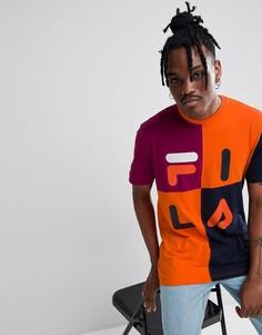 Оранжевая футболка с логотипом Fila - Оранжевый