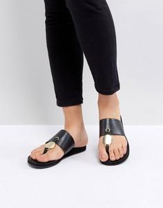 Черные сандалии с Т-образным дизайном ALDO - Черный