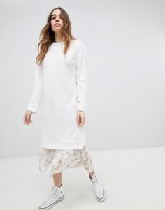 Платье миди 2 в 1 ASOS DESIGN - Белый