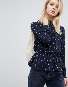 Блузка с цветочным принтом и оборкой Only - Мульти
