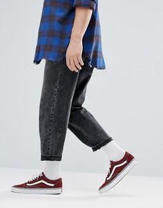 Выбеленные черные джинсы с эффектом кислотной стирки ASOS - Черный