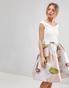 Платье с пышной жаккардовой юбкой Ted Baker Valtia - Мульти