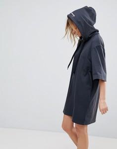 Платье с капюшоном и логотипом Cheap Monday - Черный