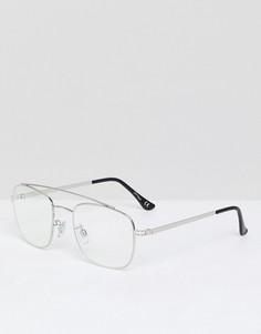 Очки-авиаторы с прозрачными стеклами Jeepers Peepers - Золотой