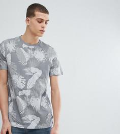 Серая футболка с лиственным принтом Ted Baker TALL - Серый