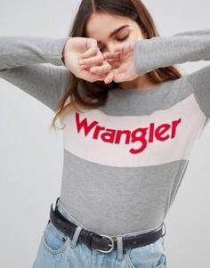 Джемпер с логотипом Wrangler - Серый