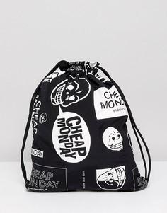 Сумка с затягивающимся шнурком и логотипами Cheap Monday - Черный