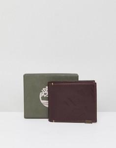 Кожаный бумажник багрового цвета Timberland - Коричневый