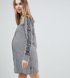 Платье-рубашка в клеточку Supermom Maternity - Черный