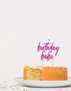 Свеча с надписью Birthday Babe Ginger Ray - Мульти