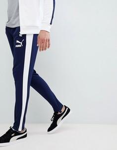Темно-синие джоггеры в винтажном стиле Puma T7 57498706 - Темно-синий
