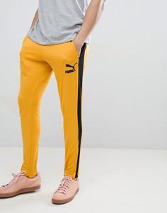 Желтые джоггеры в винтажном стиле Puma T7 57498748 - Желтый
