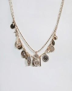 Ожерелье в несколько рядов с подвесками-монетами ALDO - Золотой