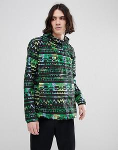 Зеленая куртка с ацтекским принтом Herschel Supply Co Hoffman Voyage - Зеленый