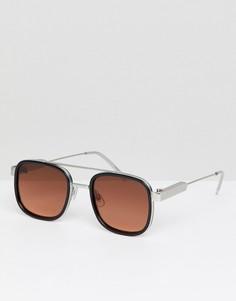 Черные квадратные солнцезащитные очки с красными стеклами Spitfire - Черный