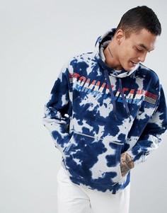 Худи темно-синего цвета с мраморным эффектом и логотипом культовой расцветки Tommy Jeans Capsule - Темно-синий
