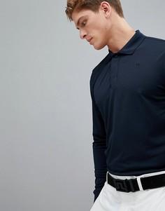 Темно-синяя футболка-поло узкого кроя с длинными рукавами J.Lindeberg Golf Brandon TX Torque - Темно-синий