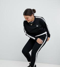 Черные спортивные штаны с полосками по бокам Puma эксклюзивно для ASOS Plus - Черный
