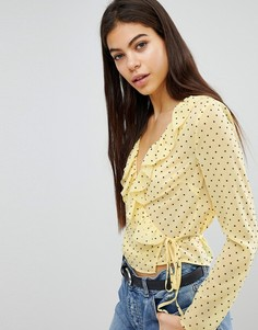 Блузка в горошек Missguided - Желтый