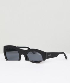 Черные круглые солнцезащитные очки Quay Australia If Only - Черный