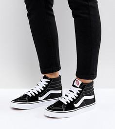 Черно-белые высокие кроссовки Vans Classic Sk8 - Черный