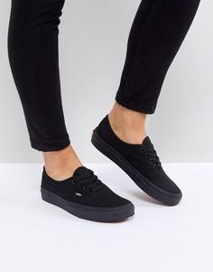 Черные кроссовки Vans Authentic - Черный