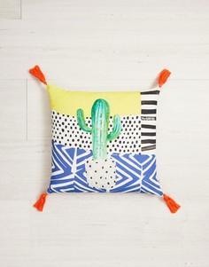 Хлопковая подушка с принтом кактуса Ian Snow - Мульти