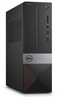 Компьютер DELL Vostro 3267, Intel Pentium G4400, DDR4 4Гб, 1000Гб, Intel HD Graphics 510, DVD-RW, CR, Linux, черный [3267-0245]