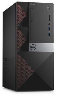 Компьютер DELL Vostro 3668, Intel Core i5 7400, DDR4 4Гб, 1000Гб, Intel HD Graphics 630, DVD-RW, CR, Windows 10, черный [3668-0351]