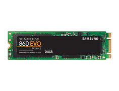 SSD накопитель SAMSUNG 860 EVO MZ-N6E250BW 250Гб, M.2 2280, SATA III, NVMe