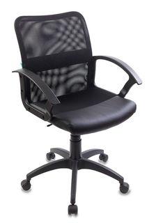 Кресло БЮРОКРАТ CH-590, на колесиках, искусственная кожа, черный [ch-590/black]