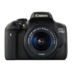 Зеркальный фотоаппарат CANON EOS 750D kit ( EF-S 18-55mm f/3.5-5.6 IS STM и EF 50mm f/1.8 STM), черный