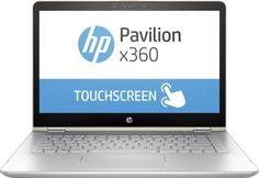 """Ноутбук-трансформер HP Pavilion x360 14-ba106ur, 14"""", Intel Core i7 8550U 1.8ГГц, 8Гб, 1000Гб, 128Гб SSD, nVidia GeForce 940MX - 4096 Мб, Windows 10, 2PQ13EA, золотистый"""