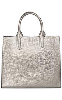 Серебристая кожаная сумка La Reine Blanche