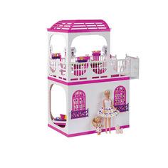 Кукольный домик Огонек Дом с верандой Зефир С-1405 ОГОНЕК.
