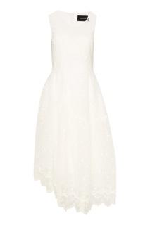 Белое кружевное платье Simone Rocha