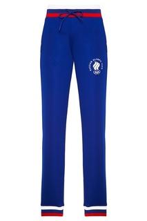 Синие брюки с контрастной отделкой Zasport