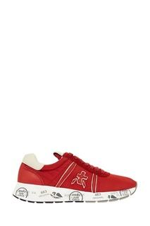 Красные кроссовки с нашивкой Premiata