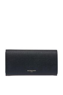 Черный кожаный кошелек Balenciaga