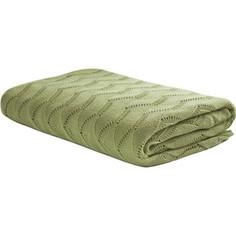 Плед TIFFANYS secret Ажур Зеленый чай Латте трикотажной вязки 140x180