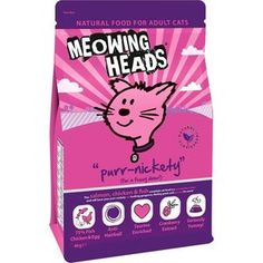 Сухой корм BARKING HEADS Adult Cat Purr-Nickety For a Fussy Diner Salmon, Chicken & Fish с лососем, курицей и рыбой для взрослых кошек 4кг (2494/20586)