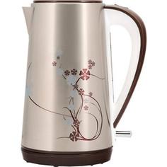 Чайник электрический Polaris PWK 1726CA серебристый/рисунок