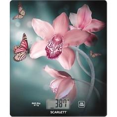 Кухонные весы Scarlett SC-KS57P31 рисунок/орхидея