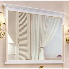 Зеркало Timo Аура белый с золотом (Au.z - 100 M (B-G))