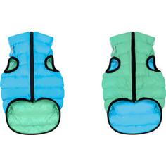 Курточка CoLLaR AiryVest Lumi двухсторонняя светящаяся салатово-голубая размер размер M 45 для собак (2258)