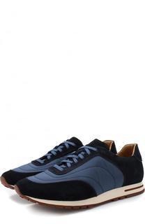 Комбинированные кроссовки Week End Walk на шнуровке Loro Piana