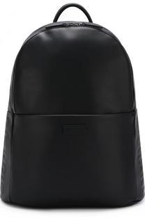 Однотонный кожаный рюкзак Giorgio Armani
